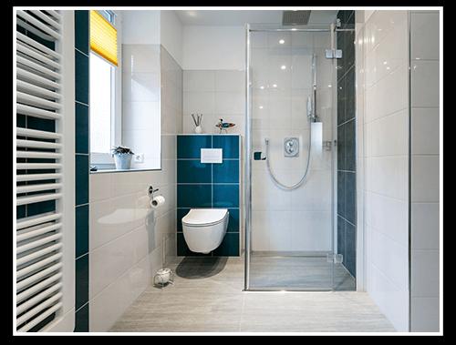 salle de douche italienne et W.C